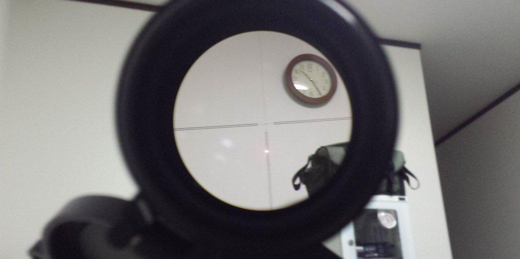 P90をボアサイターにてスコープ調整2