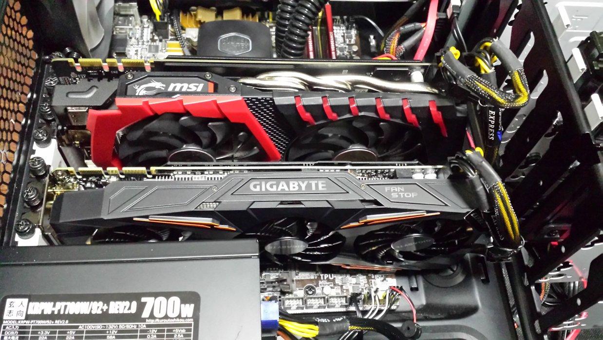 MSI GTX 1070 GAMING X 8GとGV-N1070G1 GAMING-8GD