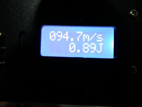 マルイ純正パッキン交換後 0.2g(ホップなし)初速2