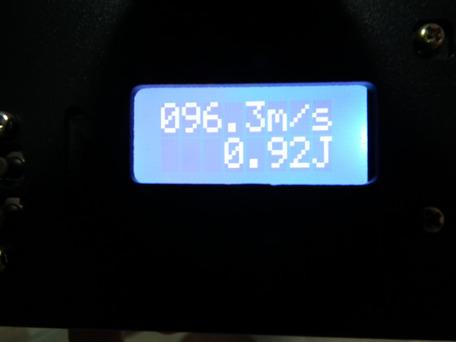 マルイ純正パッキン交換後 0.2g(ホップなし)初速3