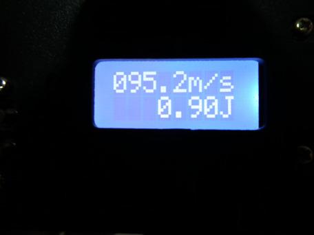 マルイ純正パッキン交換後 0.2g(適正ホップ)初速1