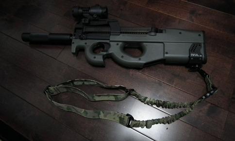 P90用ストックエンドスリングスイベル取り付け3