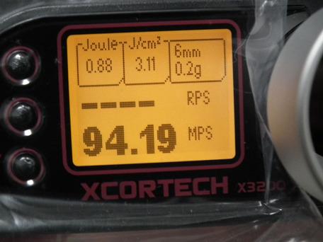 X3200正規品 弾速比較1-2