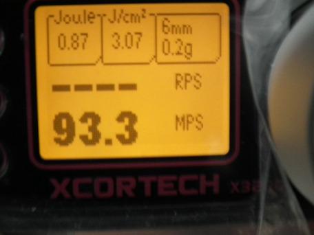 X3200正規品 弾速比較2-2