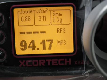 X3200正規品 弾速比較3-2