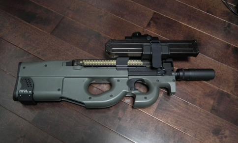 P90シリーズ用 スペアマグホルダーe 取り付け2