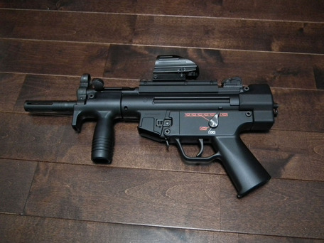 MP5K HCにPS90HC用のハイダー装着