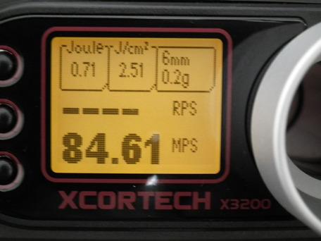 MP5K HC KM企画パーフェクトバレル141mm装着後の初速(スプリング交換済み)ホップMAX