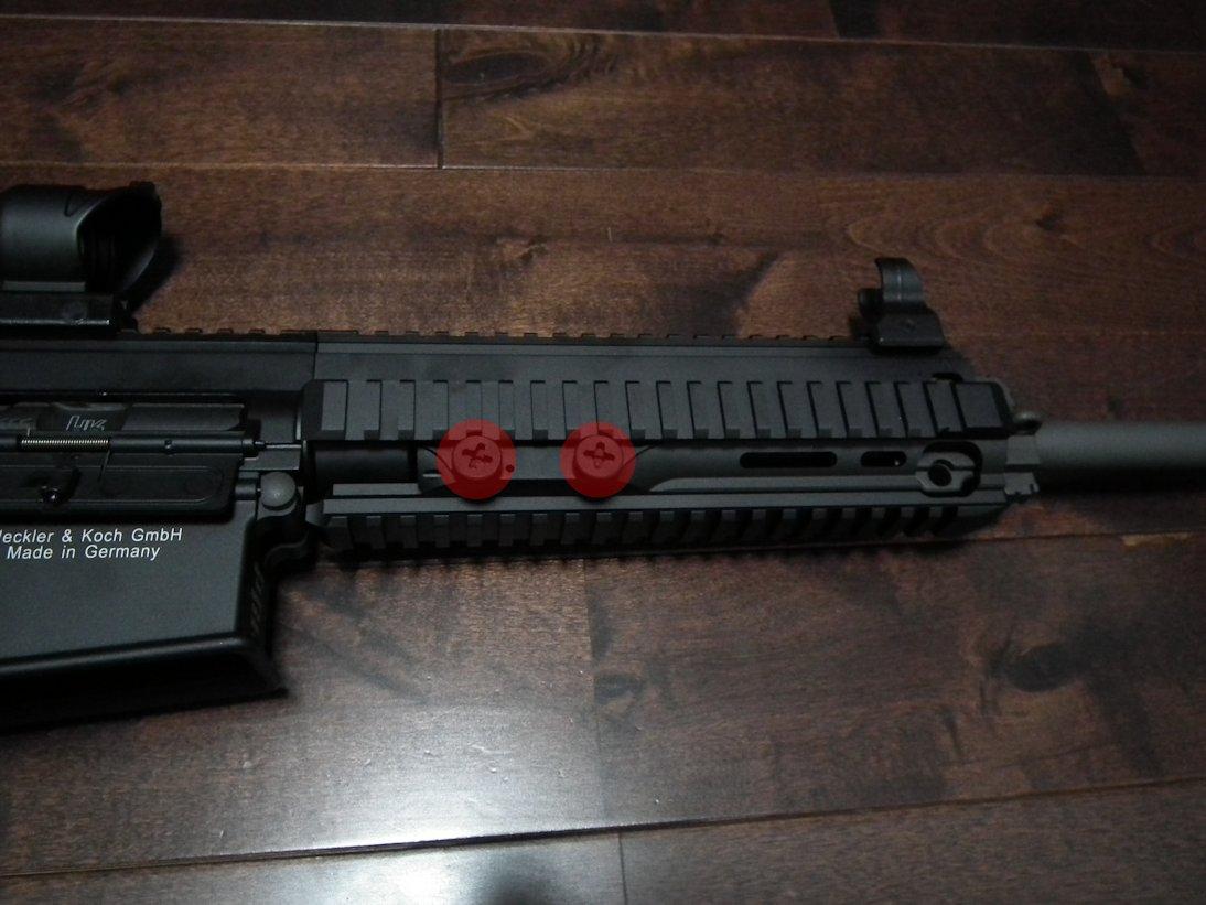 HK417のハンドガード外し