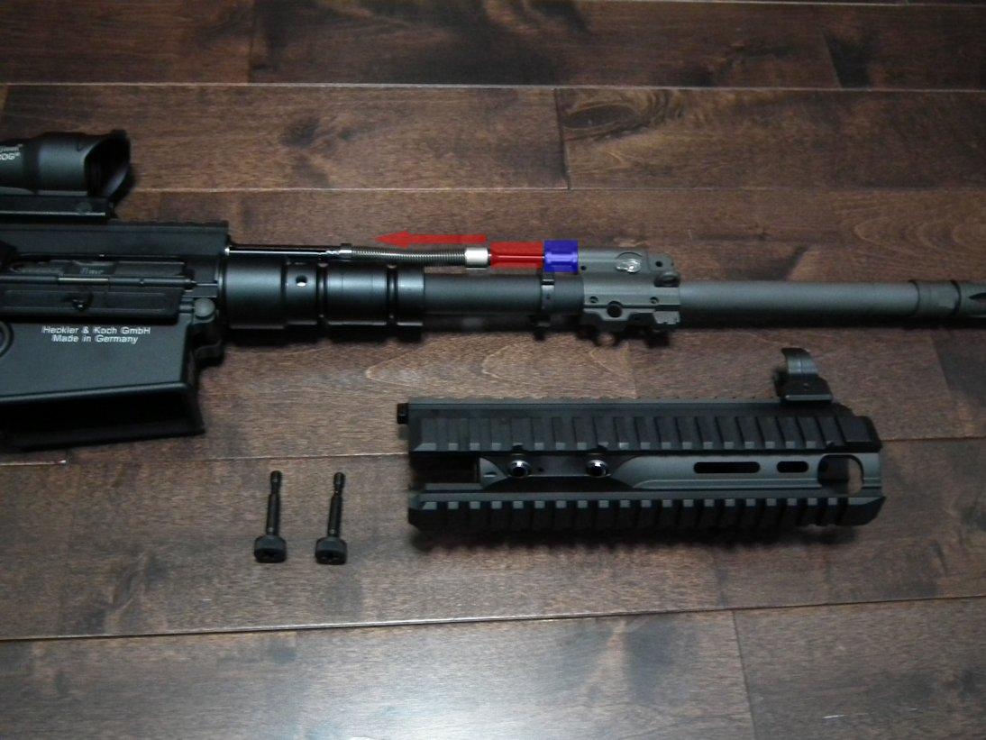 HK417のガスチューブ外し