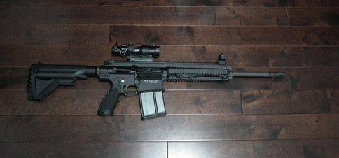 HK417 16inch Barrel 9inch Handguard