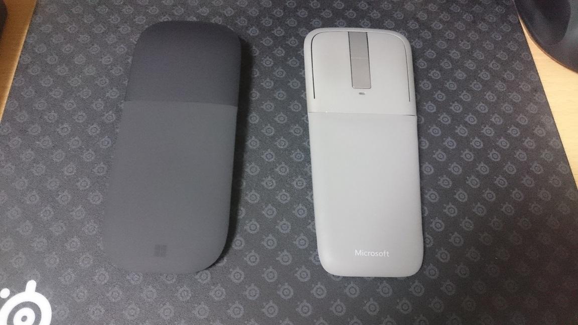 Microsoft Arc Mouse (ブラック) 比較1