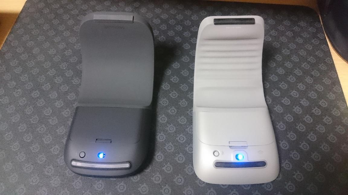 Microsoft Arc Mouse (ブラック) 比較3