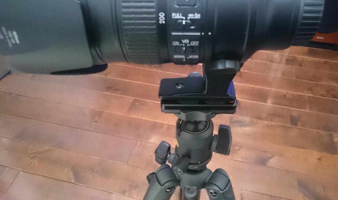 70-200mm VR IIにクイックシューを取り付け